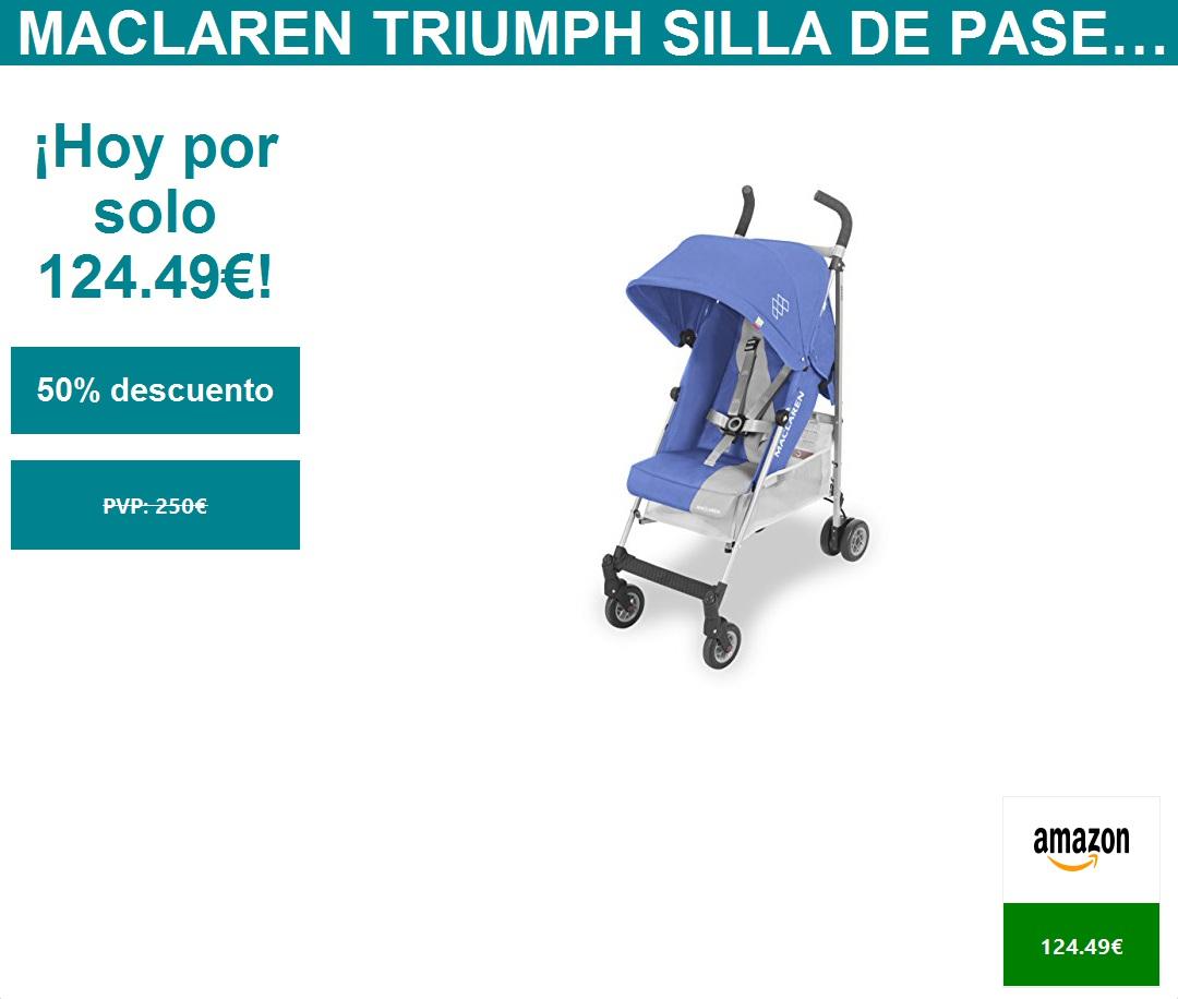 Capota extensible con UPF 50+ de los 6 meses hasta los 50kg encaja a trav/és de la mayor/ía de las puertas ligera Maclaren Twin Triumph Silla de paseo doble